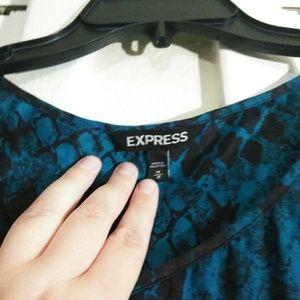 Express Dresses - **SALE** Express Blue Green Snake Skin Print Dress